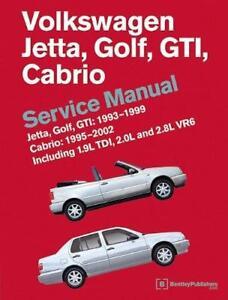 vw volkswagen golf gti cabriolet vr6 jetta owners service repair rh ebay co uk 2000 vw cabrio owners manual pdf 1995 volkswagen cabrio owner's manual