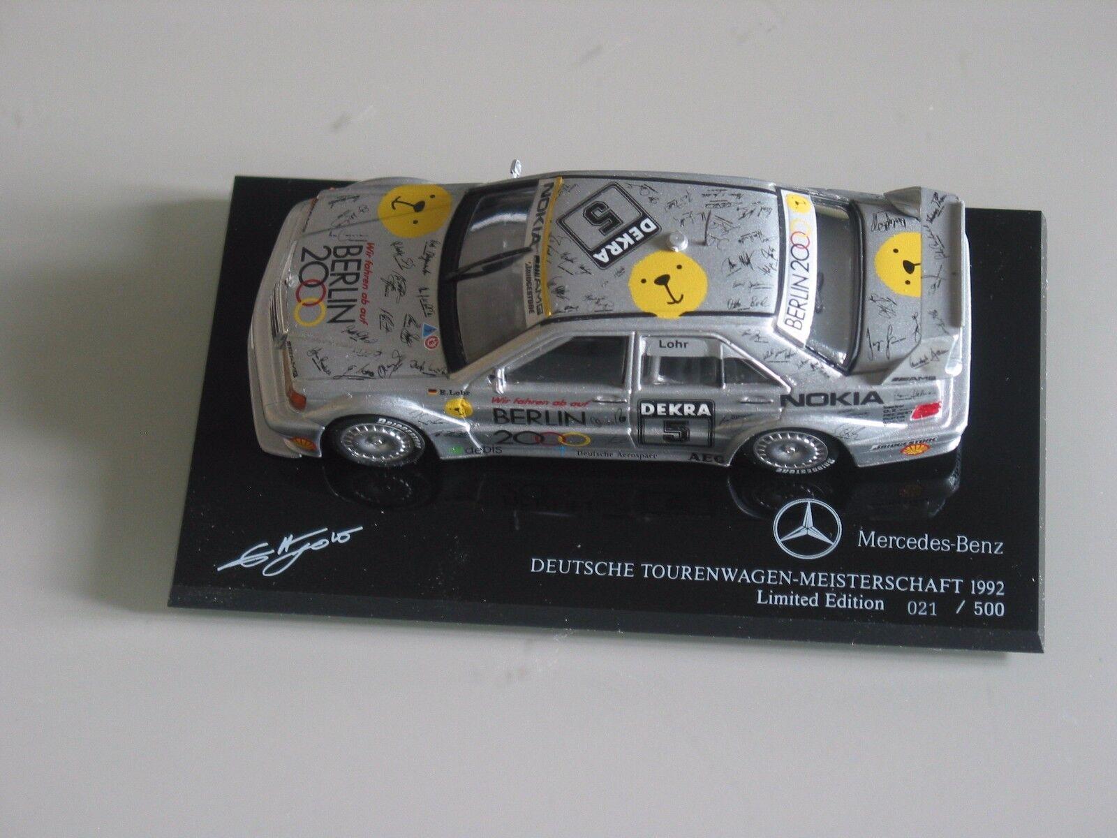 DEUTSCHE TOURENWAGEN MEISTERSCHAFT MEISTERSCHAFT MEISTERSCHAFT  Mercedes 190E LOHR 1992 limited Minichamps 754324