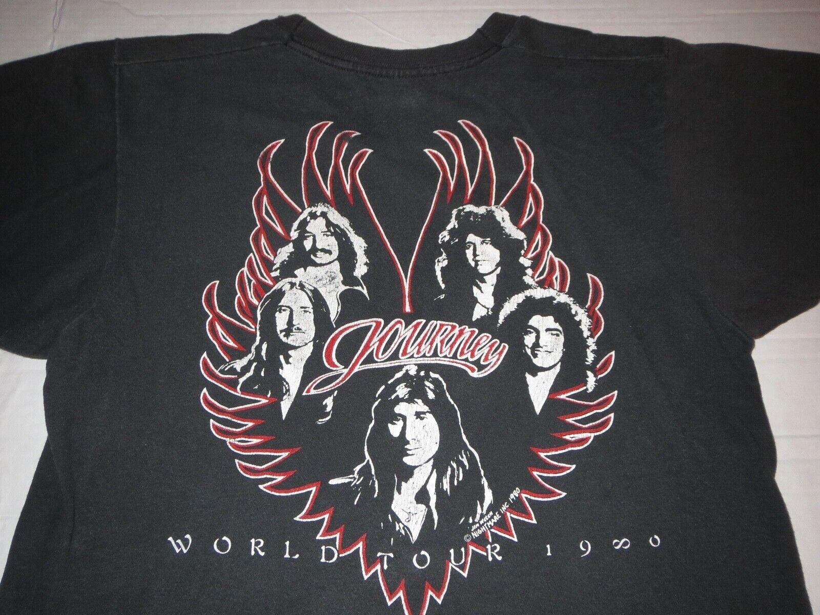 Journey Captured World Tour Rock Music Adult T Shirt