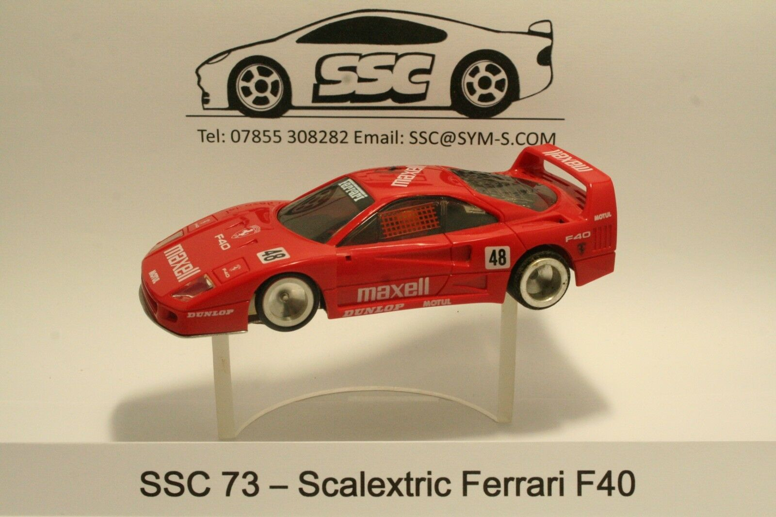 Vintage Scalextric Ferrari F40 Compatible Slot Car Chassis SSC 73 & 77