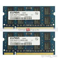 4GB 2x2GB DDR2 PC2-6400S PC2-6400 DDR2-800Mhz 200pin SODIMM Laptop Memory (RAM)