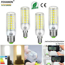E27 E14  5730 SMD LED Corn Bulb Lamp Warm White Light Bright 24-165leds 110/220V