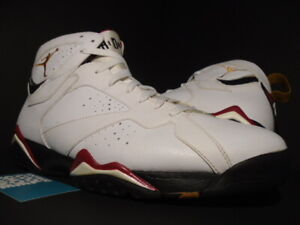 add0091168d3dd NIKE AIR JORDAN VII 7 RETRO WHITE BRONZE GOLD CARDINAL RED BLACK ...