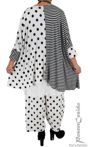 LAGENLOOK Ballon-Hose Punkte schwarz weiß XL-XXL-XXXL 44 46 48 50 52 54 56 58