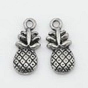 lot-de-10-breloques-charm-pendentif-perle-scrapbooking-fruit-ananas-NEUF