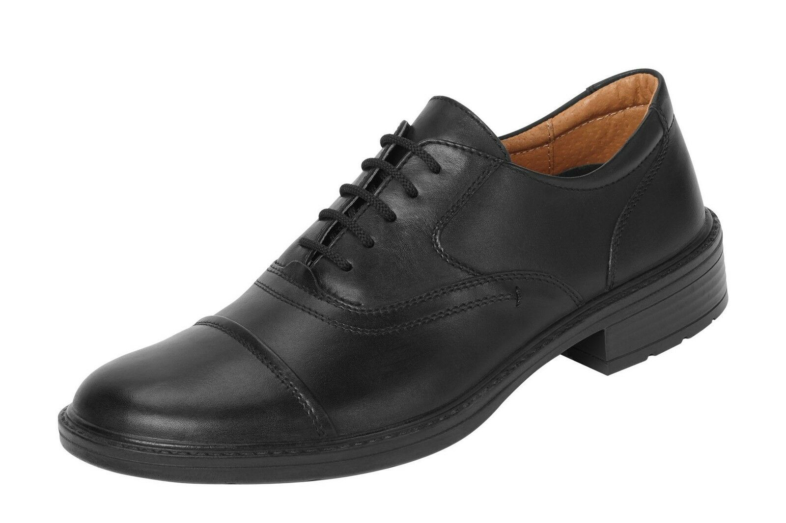 DB's Manhattan Men's Extra Wide Formal shoes in EE fit in Black