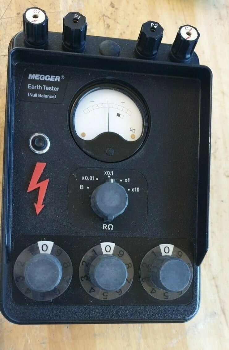 Vintage Biddle Megger Earth Tester Null Balance 2035993 Instructions Case For Sale Ebay