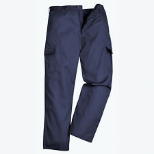 Men/'s Portwest S885 Navy Work Trousers Tradeguard 245 Fabric 245g//m2 Poly//Cotton