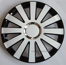 15'' Wheel trims Hub Cups for Vauxhall Astra Corsa Combo 4 x 15'' white - black