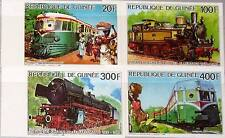 GUINEA 1986 1118-21 1001-1004 IMPERF Locomotives Eisenbahn Railway Trains MNH