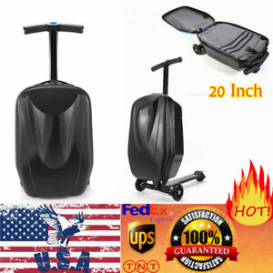 Scooter-Luggage-Rolling-Suitcase-Foldable-Trolley-Travel-Carry-onboard-Bag-USA