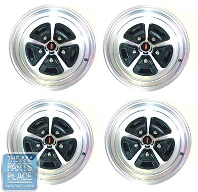 "Cutlass / 442 15 x 7"" Alloy Wheel Set - Retro Magnum Wheels Complete Set of 4"