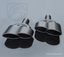 Black Exhaust Muffler Dual Double S-Class W221 AMG Style Quad Tips Mercedes  RTP