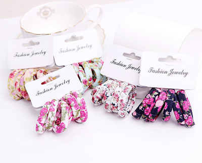 Bands 3 Colours NEW Set of 6 Animal Print Elasticated Hair Tie UK Seller