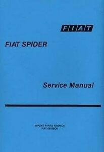 fiat 124 spider car shop manual very large catalogue book paper ebay rh ebay co uk 2017 fiat 124 spider service manual fiat 124 spider service manual
