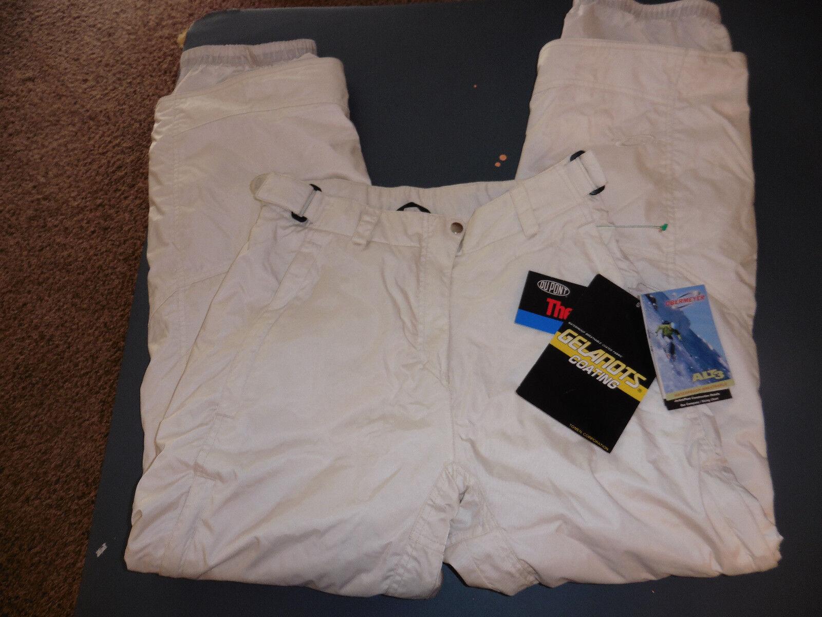NWT womens obermeyer ski pants lined white sz 8 white
