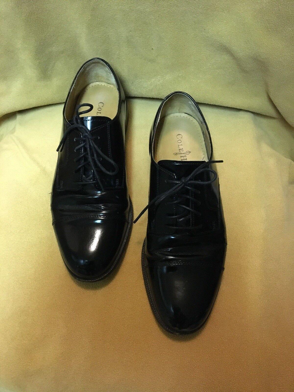 COLE HAAN MEN'S BLACK Oxford Cap Toe Formal shoes US Size 9 D