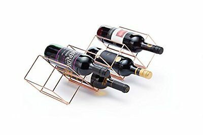Bar Craft 58 x 14.5 x 14.5 cm Wire 7-Bottle Stackable Wine Rack