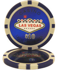 100pcs Las Vegas Laser Casino Clay Poker Chips $10