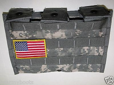 Made in US Army Military Molle II ACU Admin Triple Carrier Pouch 3 MAG M- 4 A1