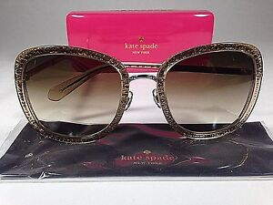 87c9ff42dc Kate Spade Women s Scottie Butterfly Sunglasses Gold Glitter Brown ...