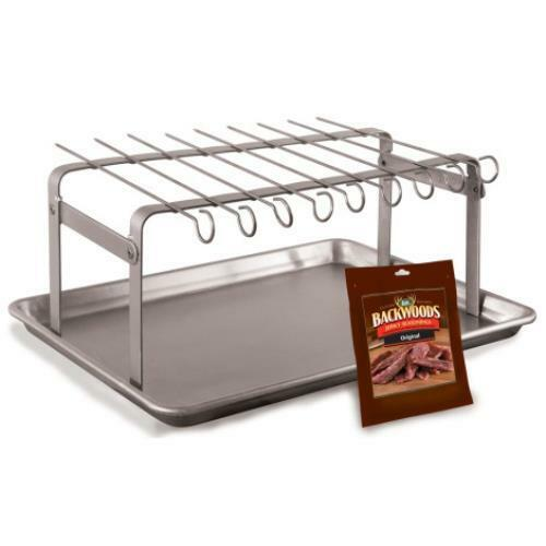 Brand New Jerky Hanger With 9 Skewers And Seasoning