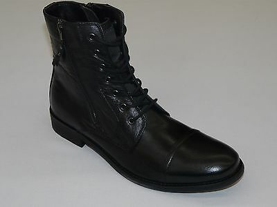 Mens Kenneth Cole Reaction High Top Boot Zip up and Lace HIT MEN RM07903LE Black