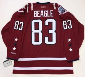 new product 44c4e 8ddd2 Details about JAY BEAGLE WASHINGTON CAPITALS 2015 WINTER CLASSIC REEBOK  PREMIER JERSEY