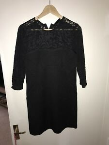 d1b3b3c5c23 Image is loading The-Kooples-Black-Lace-Dress-Size-10-12