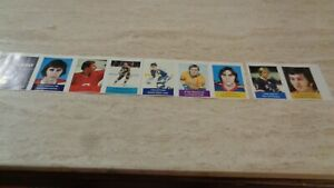 1974-75 Loblaws NHL Hockey Stamp Strip of 8 - Ron Anderson on left