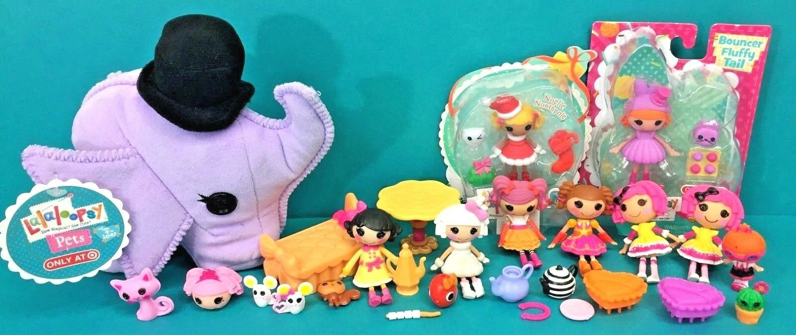 Lalaloopsy Mini 3  Doll Figures Furniture Accessories Plush Elephant Pet NIP Lot