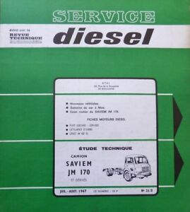 Revue-technique-DIESEL-camion-SAVIEM-JM-170-et-DERIVES-RTA-n-26D-de-1967