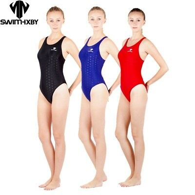 Women Girls One Piece Competition Training Swimsuit Racing Swimwear Bathing  Suit | eBay