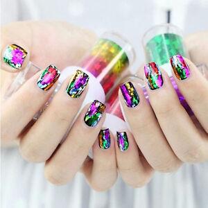 Galaxy Nail Art Transfer Wrap Foil Sticker Glitter Tip Decal
