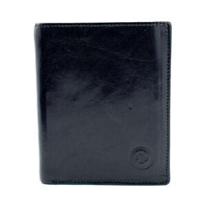 PZU-Mens-Bifold-Leather-Wallet-Black-Blue