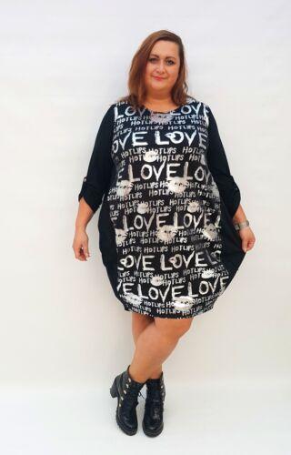 Wolfairy Womens Plus Size Midi Dress Lagenlook Boho Long Sleeve Summer Stretch