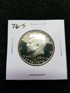 1976 S  Proof Kennedy Bicentennial Half Dollar from US Mint Proof Set CP2015