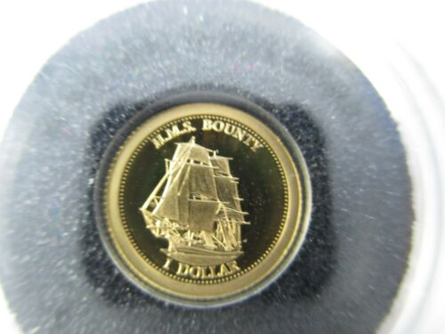 THE SMALLEST GOLD COIN FREE INT POST 2013 FIJI $1 H.M.S BOUNTY