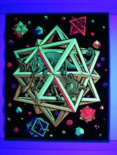 Vintage Psychedelic Blacklight Poster STARS by MC Escher 1968 Casy Posters RARE