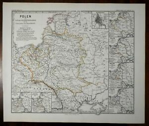 Polish-Lithuanian-Commonwealth-Poland-Partitions-Spruner-1877-historical-map