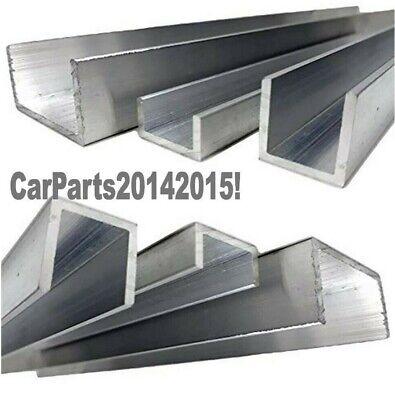 Secci/ón de canal en U de aluminio 8 mm x 8 mm x 1 mm x 2000 mm