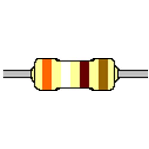 Kohleschicht-Widerstand 390 Ohm 5/% 0,25W Bauform 0207 gegurtet