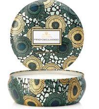 Voluspa French Cade & Lavender Limited 3 Wick Candle in Decorative Tin ~  12 oz