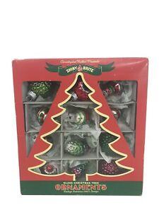 Christopher-Radko-Presents-Shiny-Bright-Glass-Christmas-Tree-Ornaments-in-box