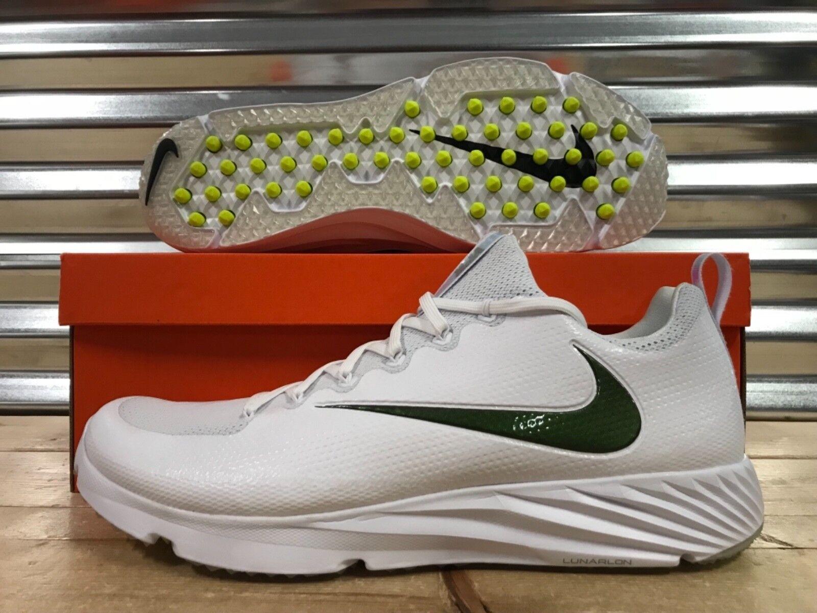 Nike vapor unantastbar geschwindigkeit rasen trainer schuhe, weiße oregon sz (833408-112)