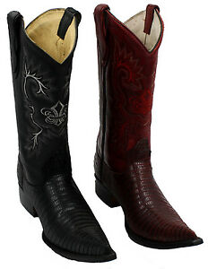 Men's Lizard PRINT Cowboy Boots Genuine Leather 3X Toe best ...
