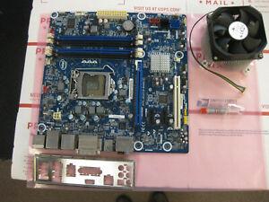 Intel Desktop Board G10189-208 Motherboard HeatSink & Fan + Silicon + I/O Plate