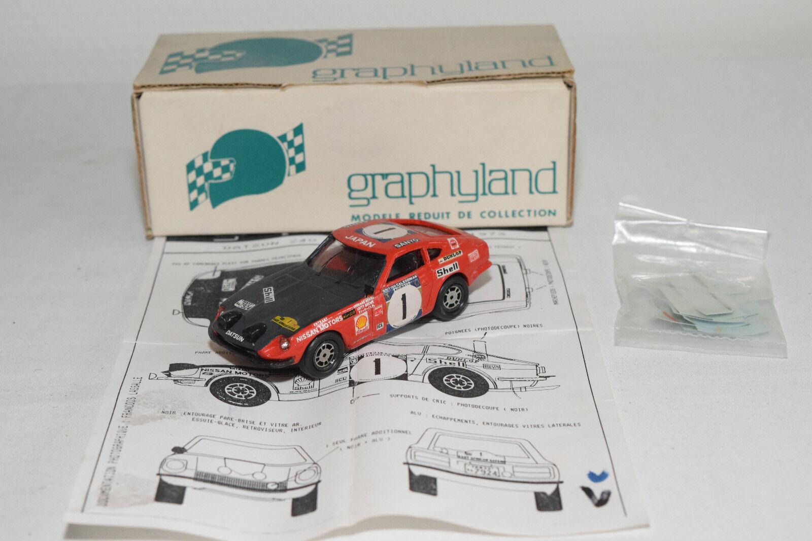 GRAPHYLAND KIT DATSUN 240Z 240 Z SAFARI RALLY 1973 1973 1973 RED N MINT BOXED RARE SELTEN 6e1ba1
