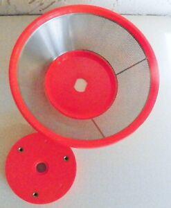 Jack-LaLanne-039-s-Power-Juicer-Replacement-Part-STRAINER-BASKET-CL-003AP-Orange