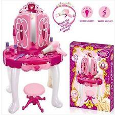 Le Ragazze Glamour Specchio Makeup tavolo da toeletta Sgabello Playset Giocattolo VANITY Light & music